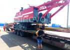 Chine Red color low ground pressure and max 100T Lifting capacity Hydraulic Crawler Crane CQUY100I société