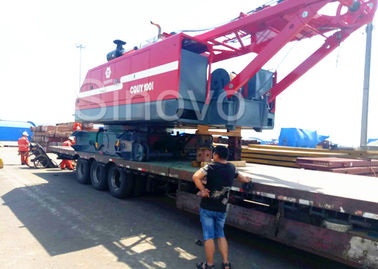 Red color low ground pressure and max 100T Lifting capacity Hydraulic Crawler Crane CQUY100I